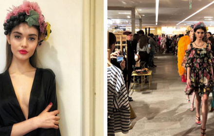 Наше момиче дефилира за Dolce & Gabbana