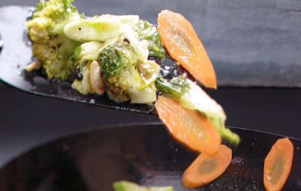 Сладко-кисели зеленчуци с кашу