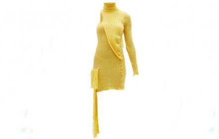 Скъпа жълта рокля