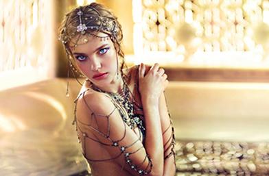 Звезда на Изтока: Коледната колекция на Наталия Водянова за Guerlain