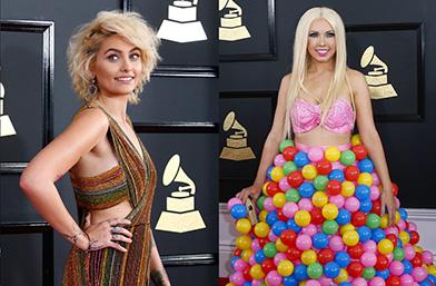 """Oops! Фешън издънките на наградите """"Грами"""""""