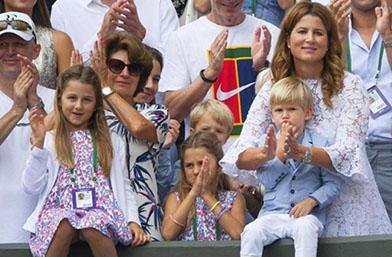 Обичта на известните: Семейството на Федерер на финала на Уимбълдън