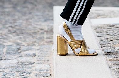 Trend report: Златни обувки