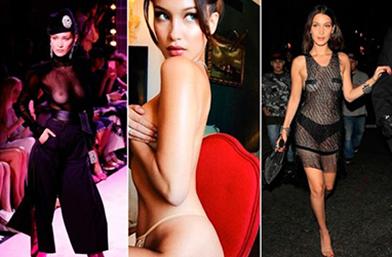 Naked Ambition: Бела Хадид по без дрехи X 20