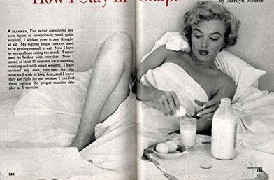 Диетата на Мерилин Монро - Мляко за закуска, сладолед за вечеря