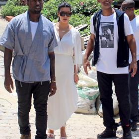 Обичта на известните - Бременната Кардашян и влюбеният Канйе Уест на почивка в Рио