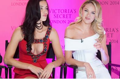 Адриана Лима и Кандис Суинепул - красивите говорителки на Victoria's Secret