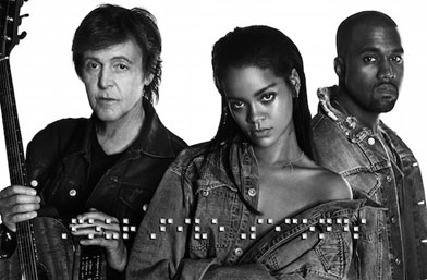 In the mood for music: Rihanna, Kanye West & Paul McCartney - 'FourFiveSeconds'