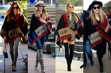 Всички носят: Монограмното пончо на Burberry