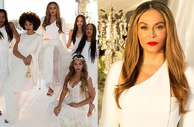Цялата фамилия Ноулс в бяло и разкош за сватбата на мама Ноулс