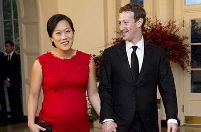 Марк Зукърбърг и бременната му съпруга в Белия Дом