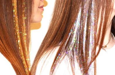 Детайли: Косата с брокат