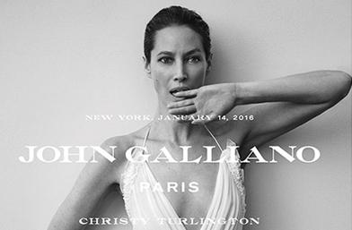 Неостаряваща Кристи Търлингтън за новото раждане на John Galliano