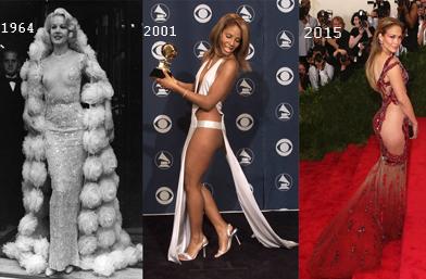 Еволюция на Naked Dress... 20 звезди в 'голи' рокли!