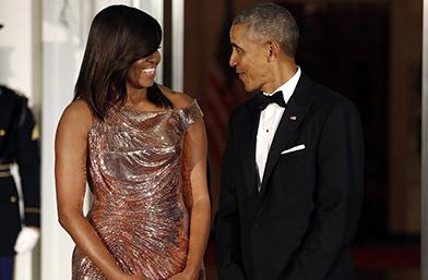 Golden Goddess: Мишел Обама във Versace