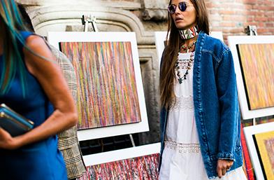 Street Style вдъхновения – Милано в синьо