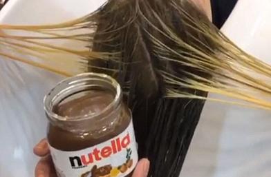Hair Trend: Коса боядисана с Nutella