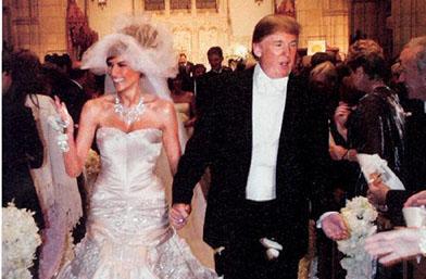 Три за щастие: Рокли за милиони, торти по 90 килограма... сватбите на Доналд Тръмп