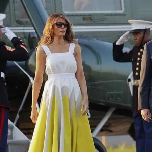 Да или Не? Бяло-жълтата рокля на Мелания Тръмп