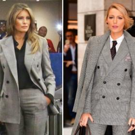 Коя е по-стилна? Мелания или Блейк?