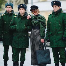 Street style вдъхновения: Русский стиль