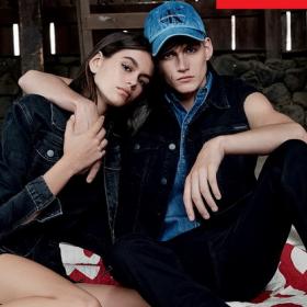 По стъпките на мама: Кая и Пресли в кампания на Calvin Klein