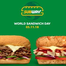 SUBWAY® празнува Деня на сандвича и 10 години в България със специална оферта за всички клиенти
