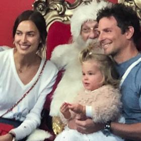 Family Christmas: Брадли, Ирина и Лия с Дядо Коледа