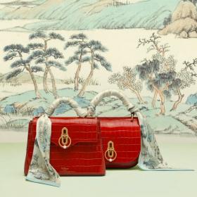 Кокетни чанти и копринени шалове по случай Китайската Нова година от Mulberry
