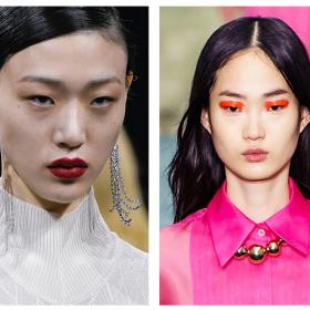 Крадем бюти визии направо от подиума: Неон, червени glossy устни & перли за разкош