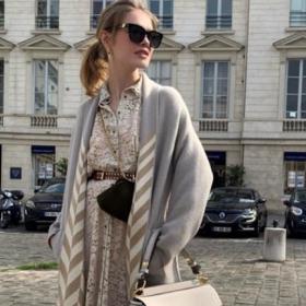 We love: Наталия Водянова в руското си палто и френска чанта