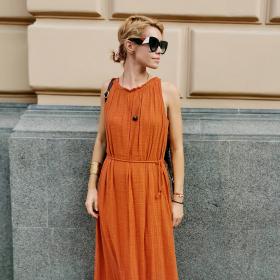 Sofia Street Style: Елизабет с готината рокля