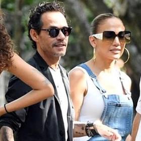 Всичко за децата: Бившите съпрузи Джей Ло и Марк Антъни в Маями