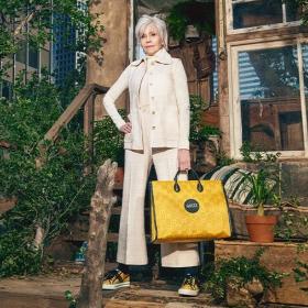 Кой как избра да се рекламира: Джейн Фонда в еко кампанията на Gucci