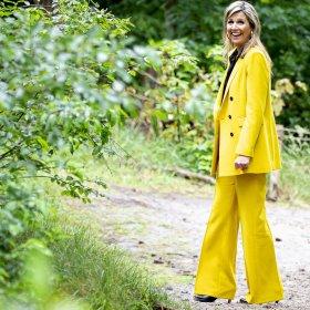 Zara е слънчогледовият костюм за 120 евро на Кралица Максима