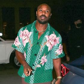 Уличният стил на звездите: На Майкъл Б. Джордан плетеното Valentino