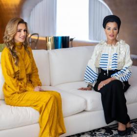 Като вицепрезидентки: Шейха Моза и кралица Рания на среща в Катар