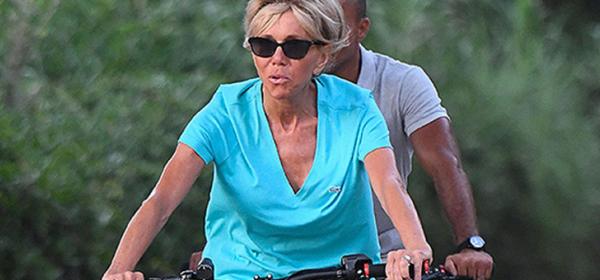 Уличният стил на звездите: Макрон кара колело
