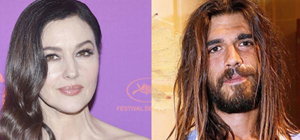 Моника Белучи се гушка с млад френски художник