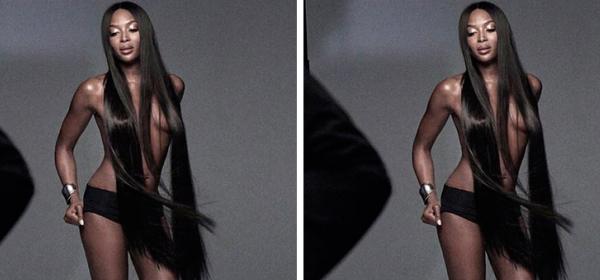 Наоми се пусна топлес за първата си EVER бюти кампания