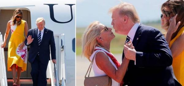 Мелания Тръмп, безупречна на срещата на Г-7 във Франция, Доналд - не чак толкова