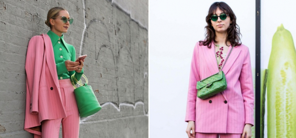 Зелено+Розово, сладко комбо като дъвка за балончета
