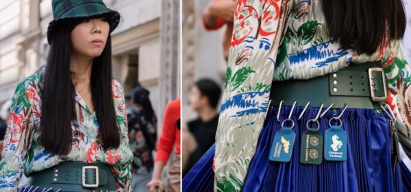 Street style отскок за Chopova Lowena, българо-британският бранд за плетени пуловери и плисирани поли