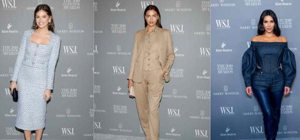 Кой какво облече на наградите на WSJ: Даша Жукова, Ирина Шейк, Ким К. & още