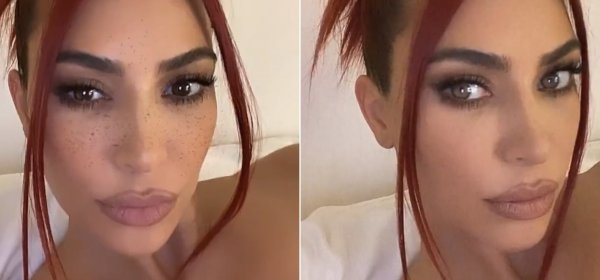 OMG! Ким Кардашян е червенокоса
