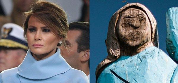 Светът обсъжда: изгорената статуя на Мелания Тръмп в Словения