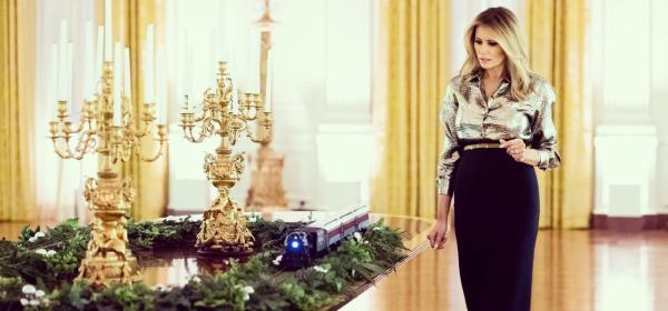 Мелания Тръмп и празничната украса на Белия дом