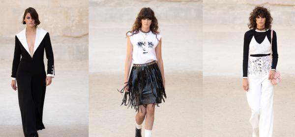Круиз колекцията 2022 на Chanel - черно, бяло, перли, гръндж