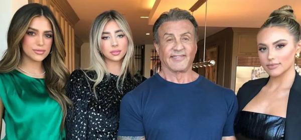 На тати хубавите момичета: Силвестър Сталуон с всичките щерки в Лос Анджелис