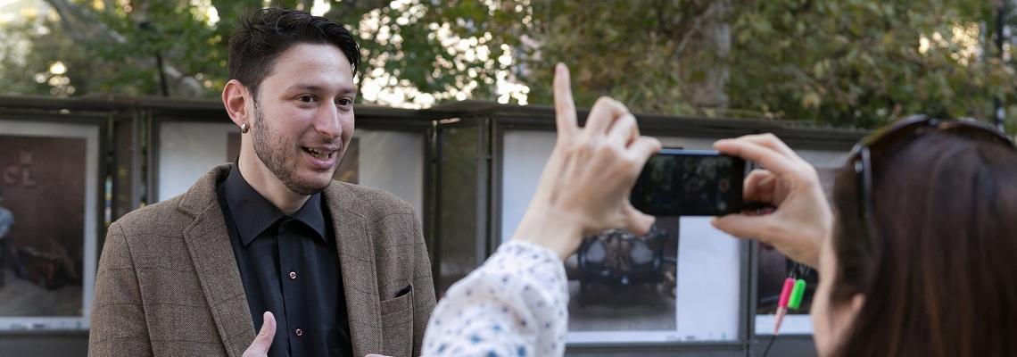 Фотоси, вдъхновени от филмите в програмата на Cinelibri,  допълват кино атмосферата в София
